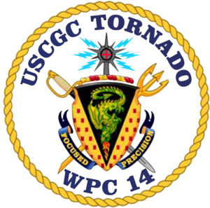 USS Tornado - Image: USCGC Tornado WPC 14 COA