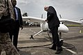 USG for Peacekeeping Operations Herve Ladsous inspects Unmanned-Unarmed Aerial Vehicles (UAVs) that will be used in eastern D.R. Congo (11189525046).jpg