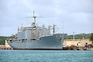 Naval Base Guam - Image: USNS San Jose at NB Guam