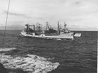 USS Allagash (AO-97) refueling USS Brownson (DD-868), in 1962.jpg