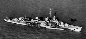 USS Bullard (DD-660) at anchor off San Francisco, California (USA), on 16 November 1944 (80-G-289775)