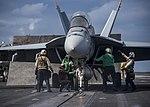 USS Carl Vinson conducts flight operations. (32157517090).jpg