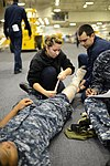 USS George H.W. Bush sailors conduct medical training 130517-N-YZ751-022.jpg