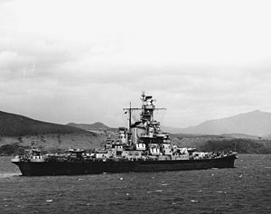 USS Indiana (BB-58) - Indiana in the South Pacific in December 1942