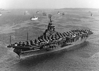 USS Lake Champlain (CV-39) - USS Lake Champlain in August 1945