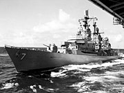 USS Luce (DLG-7) underway in 1962