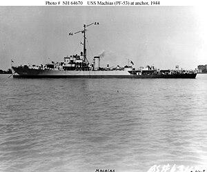 USS Machias (PF-53) - Image: USS Machias (PF 53)