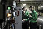 USS Nimitz sailors at work in arresting gear room 130504-N-BS576-013.jpg