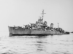 USS Young (DD-580) off the Mare Island Navy Yard, California, 26 July 1945
