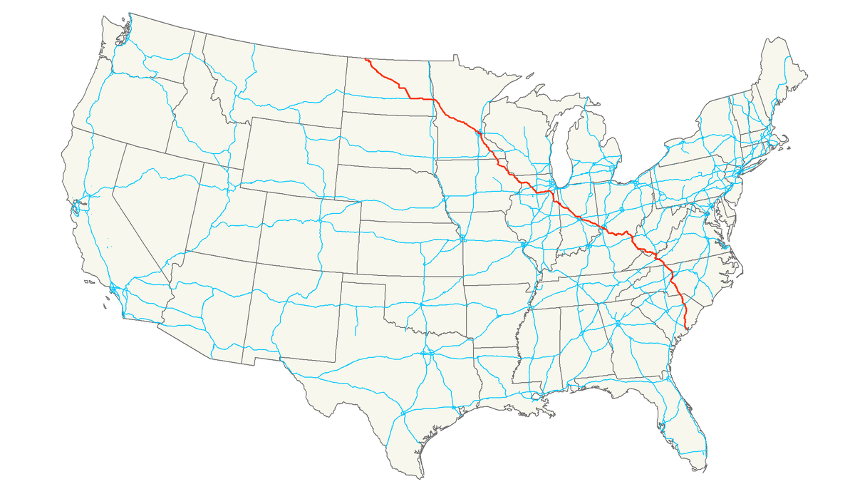 US Route Wikipedia - Us driving map