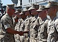 US Navy 050617-N-5313A-071 Commandant of the Marine Corps, Gen. Michael Hagee, recognizes selected Marines for their sustained superior performance.jpg