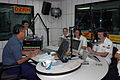 US Navy 060521-N-9076B-059 Lt. Janel Rossetto, Chief Musician Donald Chilton and Musician 2nd Class Ian Charlton appear as guests on the Philippines' largest radio station DZRH.jpg