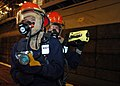 US Navy 070314-N-0237L-021 Aboard the amphibious assault ship USS Essex (LHD 4), Damage Controlman 2nd Class Adam Mikolajczyk ensures the Naval Firefighting Thermal Imager (NFTI) is properly working.jpg