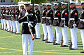 US Navy 070521-N-0593C-001 Cpl. James J. Sinovich, United States Marine Corps Silent Drill Platoon Rifle Inspector, executes a drill maneuver.jpg