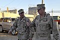 US Navy 100109-N-8273J-012 Master Chief Petty Officer of the Navy (MCPON) Rick West, left, speaks with Chief of Naval Operations (CNO) Adm. Gary Roughead while visiting with Sailors at Kandahar Airfield, Afghanistan.jpg