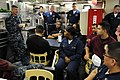 US Navy 100505-N-9818V-596 Master Chief Petty Officer of the Navy (MCPON) Rick West meets with Sailors aboard USS Wayne E. Meyer (DDG 108).jpg
