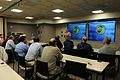 US Navy 110401-N-YB590-012 Rear Adm. Gary J. Bonelli speaks to members of the Jewish Institute for National Security Affairs at Naval Special Warfa.jpg