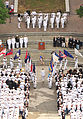 US Navy 110603-N-WE887-001 More than 200 Sailors and Marines attend a wreath laying ceremony at the Navy Memorial to commemorate the 69th anniversa.jpg