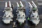 US Navy 110809-N-ZZ999-009 Sailors perform maintenance on MH-60S Sea Hawk helicopters aboard USS Ronald Reagan (CVN 76).jpg