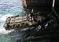 US Navy 111101-N-WJ771-141 An amphibious assault vehicle assigned to the 31st Marine Expeditionary Unit enters the well deck of the forward-deploye.jpg