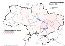 Communist Party of Ukraine results (3.66%)
