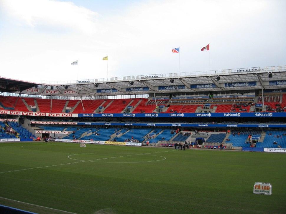 Ullevaal Stadion interior Main Stand