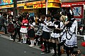 Underground idols (cosplaying street performer) in front of Don Quijote Akihabara, Akihabara pedestrian zone (2007-04-14 15.27.57 by ivva イワヲ).jpg