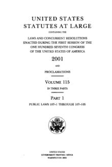 United States Statutes at Large Volume 115 Part 1.djvu