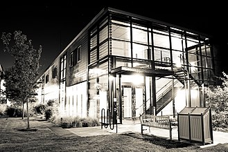 Pacific Lutheran University - Morken Center at night