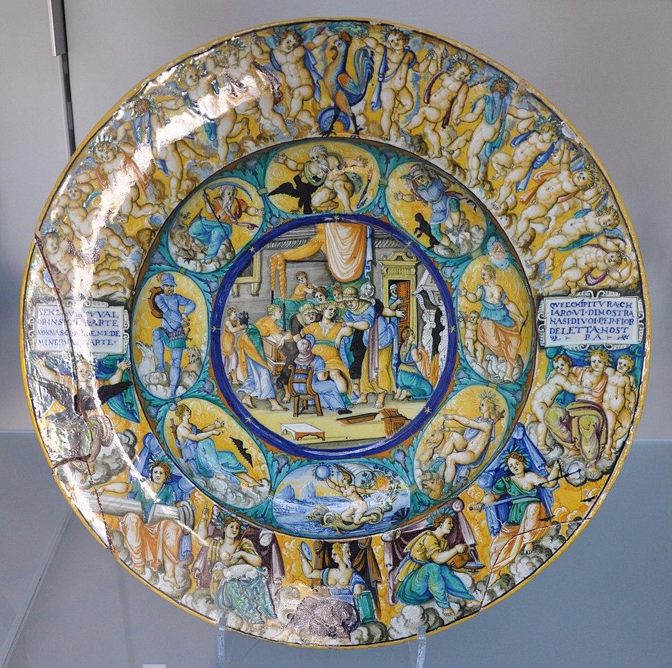 Urbino Dish with childbirth scene VA C2223-1910 img01