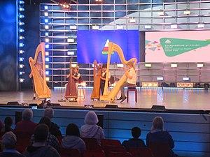 Urdd National Eisteddfod - An ensemble harp entry.