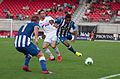 Valais Cup 2013 - OM-FC Porto 13-07-2013 - Marat Izmaylov, Morgan Amalfitano et Alex Sandro.jpg