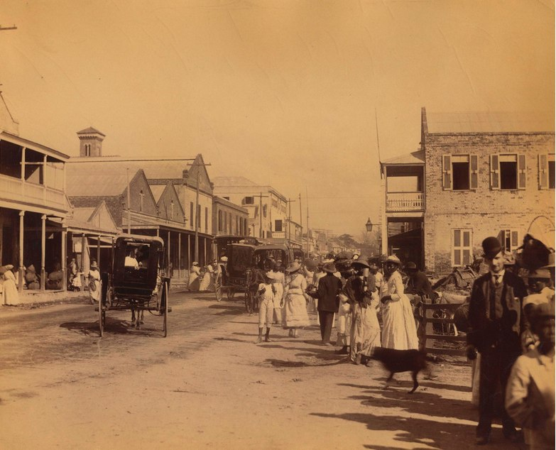 Valentine and Sons - Street View 1, Kingston, Jamaica, 1891