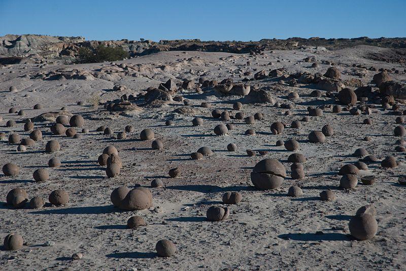 Cancha de bochas en el Valle de Ischigualasto