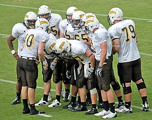 Valparaiso Crusaders - Valparaiso Crusaders players in a huddle