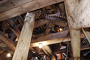 Wooden gears of an historic windmill