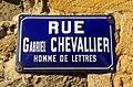 Vaux-en-Beaujolais - Rue Gabriel Chevallier (plaque).jpg