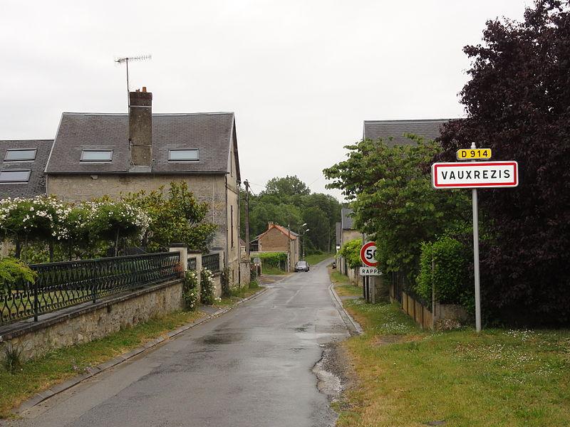Vauxrezis (Aisne) city limit sign