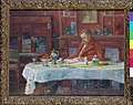 Verhaeren aan tafel, Marthe Massin, schilderij, Museum Plantin-Moretus (Antwerpen) - MPM V V 603 070.jpg