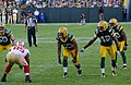 Vernon Davis, Nick Perry, Morgan Burnett and Tramon Williams - San Francisco vs Green Bay 2012.jpg