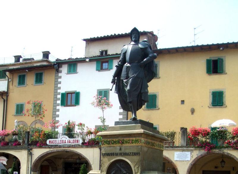 statue of Giovanni in Chianti,Italy