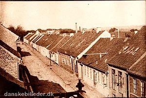 Vestergade, Aarhus - Vestergade's low housing (1865) in the growing city of the industrial age