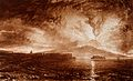 Vesuvius in eruption, with spectators on the beach at Naples Wellcome V0025243.jpg
