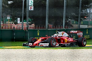 2016 Australian Grand Prix - Sebastian Vettel finished third for Ferrari.