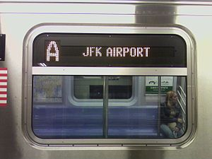 The A train serves JFK Airport via the Howard ...