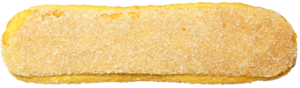 Ladyfinger (biscuit) - Close-up view of a Vicenzovo-brand Italian ladyfinger