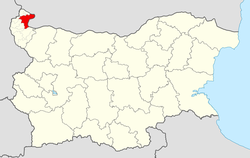 Vidin Municipality within Bulgaria and Vidin Province.
