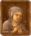 Vierge en prière XVI émail peint sur cuivre 9085.jpg