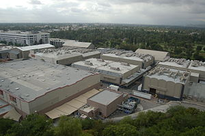 Backlot - Aerial view of the backlots of Universal Studios.