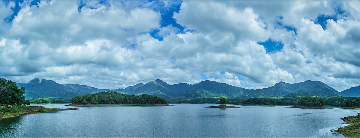 Panoramic view of Mangalam Dam
